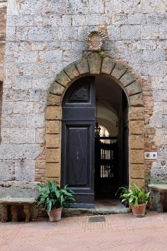 open doorway in Renaissance building in Tuscany