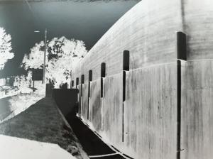 Pinhole camera exposure-negative